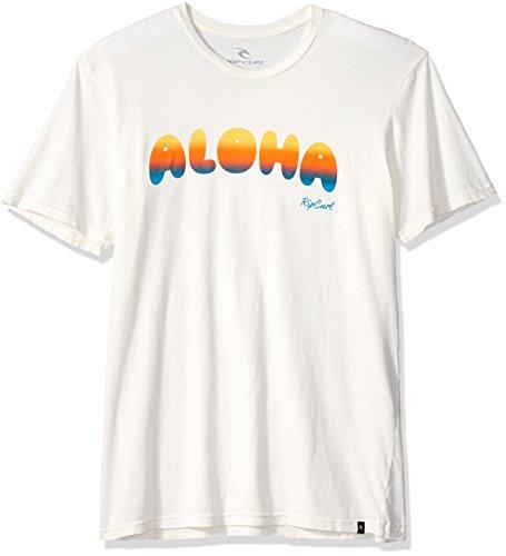 Rip Curl Herren Aloha Vibes Heritage Tee T-Shirt, Off White, Mittel -