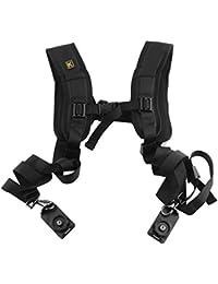 yeah67886resistente y portátil doble doble correa para el hombro correa para cámara réflex digital (Canon Nikon Sony UK