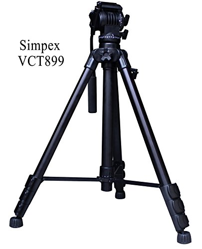 Simpex VCT888RM hevy duty 5'5'' tall video and photo professional tripod, Made with aluminium material (Black Colour)  available at amazon for Rs.4685