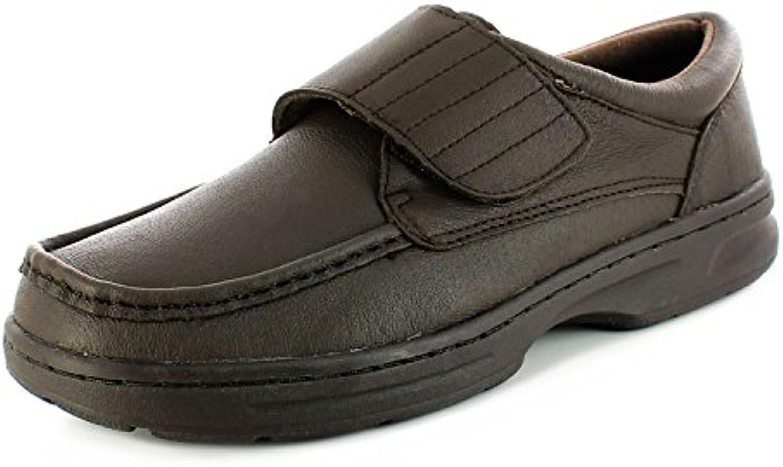 Zapatos casual comfort anchos marrón hombres - 39-45 - Marron, Sintético, 39