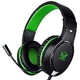 T98 Gaming Headset für Xbox One / PS4 / PC/Nintendo Schalter, Noise Cancelling, Bass Surround Sound, Über Ohr, 3.5 mm Stereo Kopfhörer mit Mikrofon für klare Chat