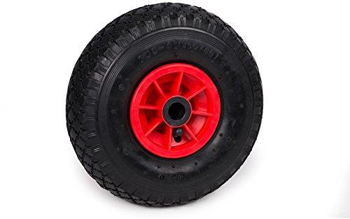 großes Rad für Transportwagen 260 x 85 mm mit Nadellager zum Aufpumpen Ersatzrad Ersatzreifen Reifen Kanuwagen Kajakwagen Kugellager