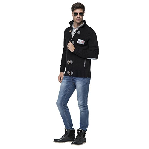 T383 - Strickjacke TORRENTO, Jacke, Windbreaker black