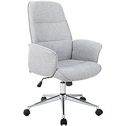 SixBros. Chaise de Bureau Gris 0704H/4458