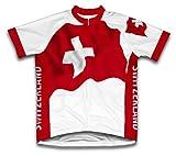 Suisse Drapeau à manches courtes Maillot de cyclisme pour femme Large Blanc - blanc