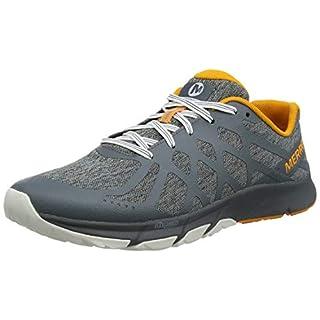 Merrell Men's Bare Access Flex 2 Fitness Shoes, Grey (Turbulence/Flame), 11 UK ( 46 EU)
