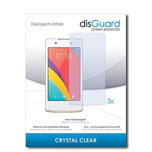 disGuard® Bildschirmschutzfolie [Crystal Clear] kompatibel mit Oppo Joy Plus [3 Stück] Kristallklar, Transparent, Unsichtbar, Extrem Kratzfest, Anti-Fingerabdruck - Panzerglas Folie, Schutzfolie