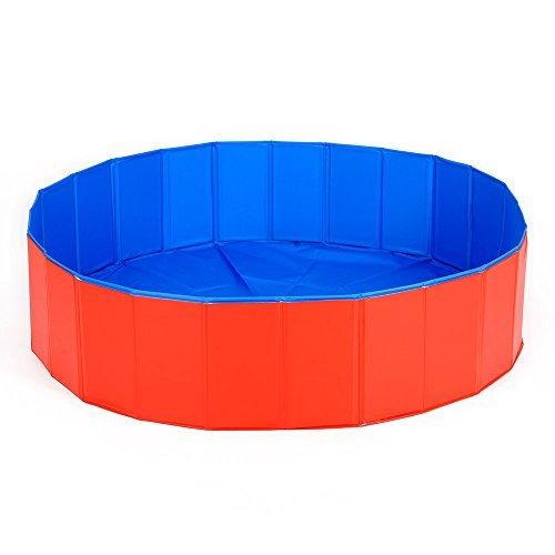 HOOPET® Anti-Rutsch Hund Schwimmbecken Hundepool 75x20cm Rot