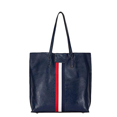 Della Moda In Pelle Borsa A Tracolla Borsa Borsa Messenger Bag Semplice Selvaggio Blue