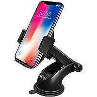 Beikell - B6007 - Support Téléphone Voiture, Beikell Support Voiture Auto Universel Ventouse avec le Bras Télescopique Réglable Support Pare-brise et Tableau de Bord et Un Bouton de libération pour iPhone 8/X/7 Plus/6s/6/5s/SE, Samsung, LG, GPS, Huawei et les autres Smartphones