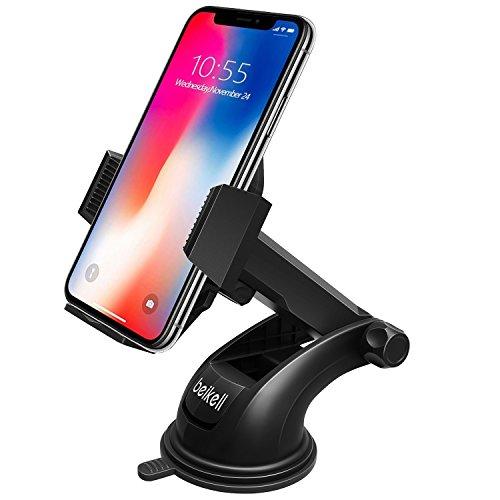 Support de téléphone de voiture, support voiture Beikell Cradle–Support de téléphone pour voiture avec One Button Release et Forte Collant Gel Pad pour iPhone X/8/7/7Plus/6S/6S Plus/6/5S/5C, Samsung Galaxy S7S6Note 5/4, Huawei et plus