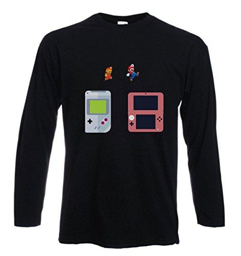t-shirt manica lunga , videogames, anni 80, play vintage - S M L XL XXL uomo donna bambino maglietta by tshirteria