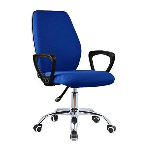 WYYY Bürostuhl Bürodrehstuhl, Ergonomisch Lordosenstütze Verstellbare Höhe Drehbarer Schreibtischstuhl 3 Farben Durable stark (Color : Blue)