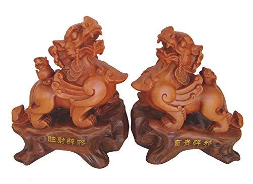 Pi Yao, Pi Sou oder PiXiu Statue verbessert wohlhabendes Chi & Appease Tai Sui, Grand Duke Jupiter (Jupiter-statue)