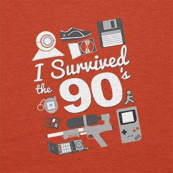 TEXLAB - I Survived The 90's - Herren T-Shirt Orange