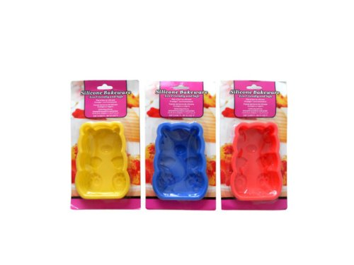 Silicone bakeware, teddy bear shaped (Open-back-teddy)