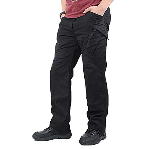 Symboat Men Waterproof Work Cargo Long Pants with Pockets Loose Trousers