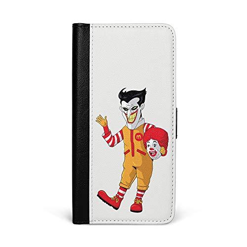 tbare Kunstleder Hülle in Schwarz mit Horror Clown Kostüm Klappbare Leder Handy Hülle mit Magnetverschluss Flip Case & Brieftasche ()