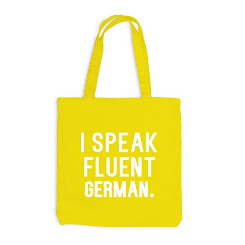 Jutebeutel - I speak fluent German - Sprache Deutsch Gelb