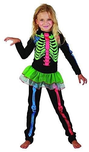 Imagen de disfraz esqueleto de colores niña  10 12 años