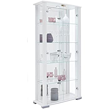Exceptional Home Stella 2 Glass Door Wide Display Cabinet (White)