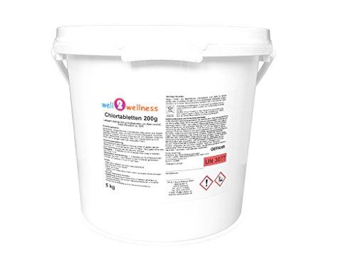 well2wellness Chlortabletten 200g - langsamlöslich + 90% Aktivchlor, 5,0 kg