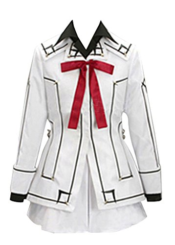 (Vampire Knight Night Cross Academy Female Uniform Cosplay Costume in White XXL Size)