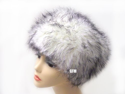 GFM Ladies Short Or Medium Length Faux Fur Pill Box Style Russian