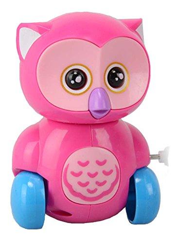 El juguete del mecanismo mecánico del búho enrolla para arriba el juguete / el color enviado en al azar