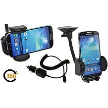 Samsung galaxy note 2 lTE-n7105)/de voiture universel support de voiture orientable à 360°-support de voiture compatible avec bumper ou coque étui de protection + chargeur allume-cigare
