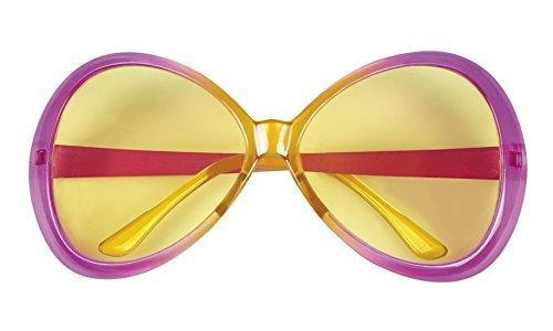 erdbeerloft - oversize Retro Hippie Brille Kostüm Sonnenbrille, Rosa (Hippie Girl Sexy Kostüme)