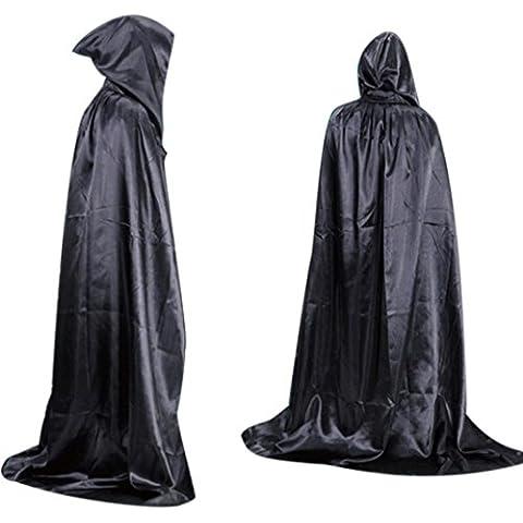 kingko® Halloween ropa Coat vampiro muerte capa chal adulto largo sección de mopa la palabra Masquerade talla única