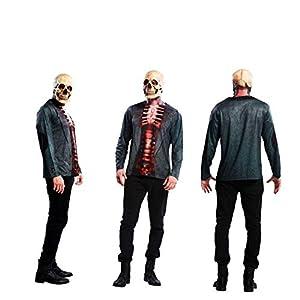 Yijja Fast Fun - Skeleton, camiseta de manga larga para adultos, talla XL (Charm Kingdom YJ00011)