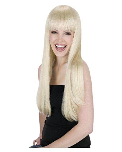 Langhaarperücke blond mit (Schlumpfine Erwachsene Für Perücke)