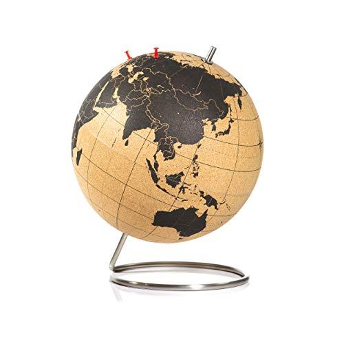 SUCK UK Large Cork Globe / Großer Kork Globus - halten Sie ihre Reisen, Abenteuer und Erinnerungen fest
