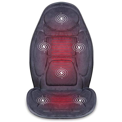 SNAILAX Massagesitzauflage mit Wärme- und Vibrationsfunktion für Rückenmassage und Köpermassage zuhause im Büro und im Auto - Sitzheizung Auto Auflage Massagegerät 262P-de