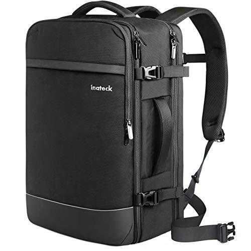 Inateck 40L-44L Reiserucksack, Handgepäck Flugzeug Rucksack, Diebstahlsicherer Herren Laptoprucksack für 15,6/17/17,3 Zoll Laptops, Travel Carry On Backpack, Kabinenrucksack Bordgepäck