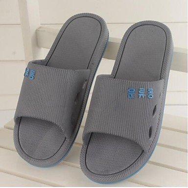 zhENfu donna pantofole & amp; flip-flops Estate Slingback Casual in gomma tacco piatto Blu Grigio Rosso Gray