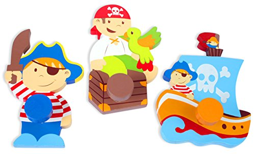 Detalles Infantiles - Set 3 colgadores pirata