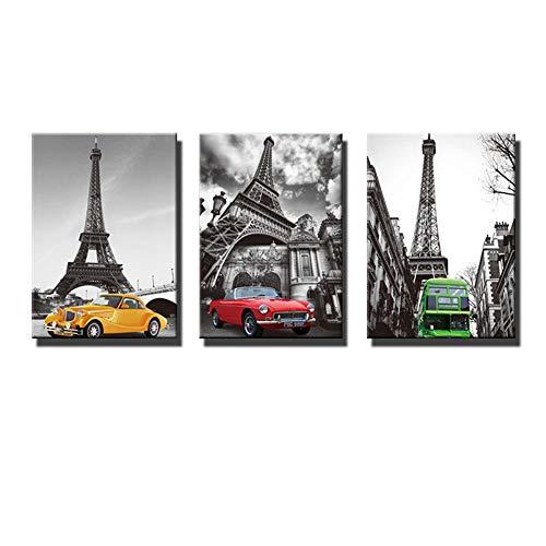 MhY Coche Torre Eiffel Sala Estar Estudio Arte hogar