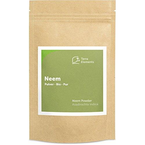 Terra Elements Bio Neem Pulver 100 g I Ayurvedisches Gewürzpulver I Geeignet für Tee I 100% rein I Vegan I Rohkost