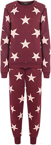 Qed London - Sweat-shirt - Femme Rouge - Bordeaux