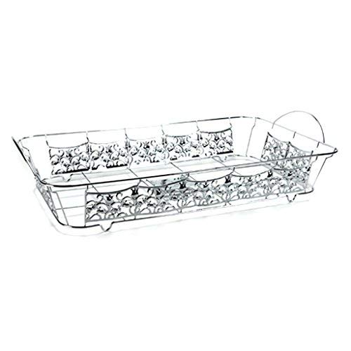 Hanna K. Signature 15103 Decorative Wire Pan Holder for Full Size Aluminum Pan, Chrome
