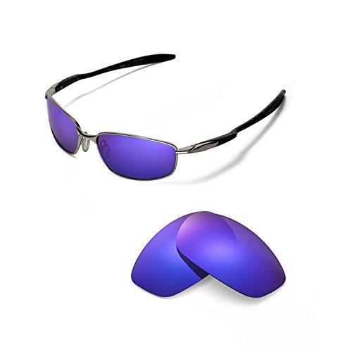 Walleva Ersatzgläser für Oakley Blender Sonnenbrille - Mehrfache Optionen (Lila polarisiert)