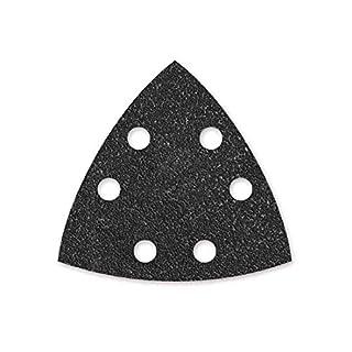 50 MENZER Klett-Schleifblätter für Deltaschleifer 93 mm - Korn 600-6-Loch