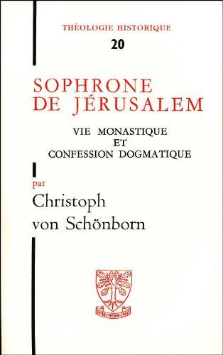 Sophrone de Jérusalem par C. Von Schonborn