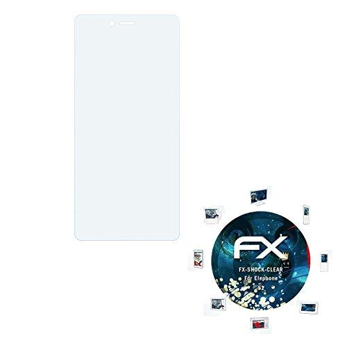atFolix Schutzfolie kompatibel mit Elephone S2 Panzerfolie, ultraklare & stoßdämpfende FX Folie (3X)