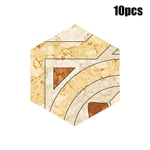 Manadlian 10 Stück Selbst Klebstoff Fliese Bodenwand Abziehbild Aufkleber DIY Küche Badezimmer Dekor (E)