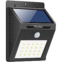 [Patrocinado]Foco Solar,Luces Solares 20 LED,1200mAh Lámparas Solares de Pared Impermeable,Luz de solar,Luces de Exterior con Sensor de Movimiento Batería Solar Exterior para Jardín,Patio,Camino,Escalera- iPosible