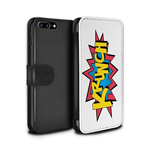 STUFF4 PU-Leder Hülle/Case/Tasche/Cover für Apple iPhone 7 Plus / Zap Muster / Comics/Karikatur Wörter Kollektion Krunch